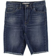 Levis Shorts - High Rise Bike - Blå Denim