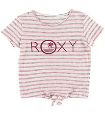 Roxy T-shirt - Some Love - Hvid/Rødstribet