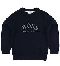 BOSS Bluse - Strik - Navy m. Logo