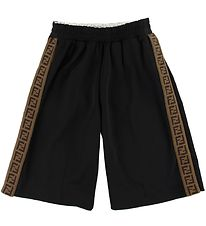Fendi Shorts - Sort m. Stribe/Knapper