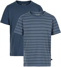 Minymo T-shirts - 2-pak - New Navy m. Striber