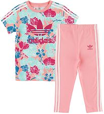 adidas Originals Leggings/Tunika - Rosa/Turkis