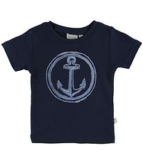 Wheat T-shirt - Anchor - Navy