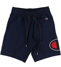Champion Fashion Shorts - Bermuda - Navy m. Logo