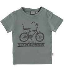 Wheat T-shirt - Bike - Lead Blue