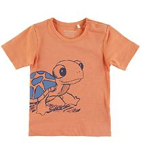 Minymo T-shirt - Copper Tan m. Skildpadde