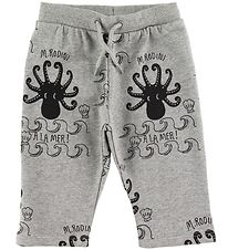 Mini Rodini Sweatpants - Octopus - Grå m. Print
