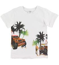 Hust and Claire T-shirt - Ask - Hvid m. Print