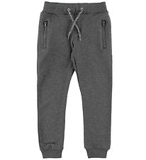 Name It Sweatpants - Honk - Noos - Mørkegråmeleret