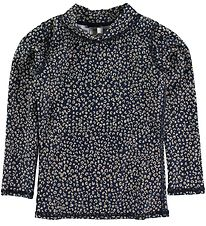 Soft Gallery Badebluse - UV50+ - Austin - Dress Blue m. Leopard