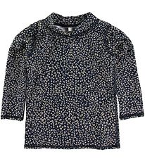 Soft Gallery Badebluse - UV50+ - Dress Blue m. Leopard