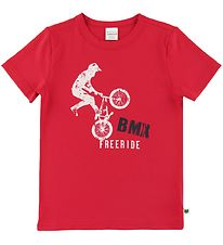 Freds World T-shirt - BMX - Traffic Red m. Bmx