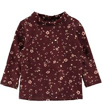 Soft Gallery Badebluse - UV50+ - Baby Astin - Oxblood Red/Flower
