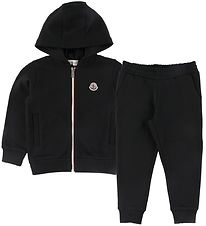 Moncler Sæt - Cardigan/Sweatpants - Sort