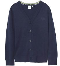 BOSS Cardigan - Smart Casual - Navy m. Knapper