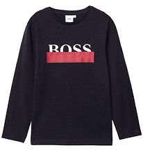 BOSS Bluse - Casual 2 - Sort m. Logo
