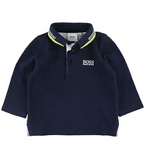 BOSS Polo L/Æ - Essentiel 1 - Navy