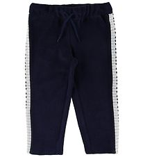 Mini Rodini Sweatpants - Piano - Navy