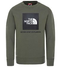 The North Face Sweatshirt - New Taupe Green m. Logo