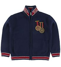 Dolce & Gabbana Cardigan - Uld - Navy m. Patches