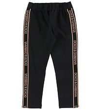 Dolce & Gabbana Leggings - Sort m. Logo