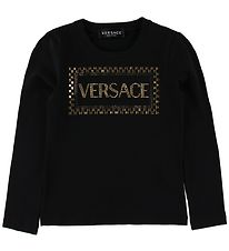 Versace Bluse - Sort m. Nitter