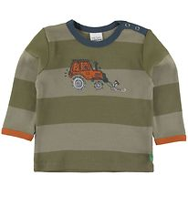 Freds World Bluse - Tractor - Dream Moss m. Striber
