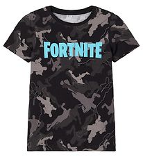 Name It x Fortnite T-shirt - Grey - Sort m. Logo