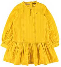 Tommy Hilfiger Kjole - Embroidery Anglais - Valley Yellow