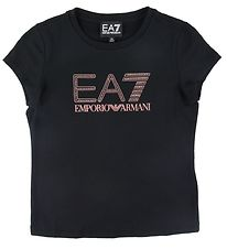 EA7 T-shirt - Sort m. Logo