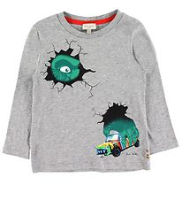 Paul Smith Junior Bluse - Bam - Grå m. Monster