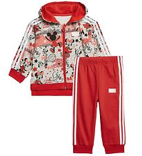 adidas Performance Sweatsæt - Minnie Mouse - Grå/Rød