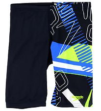 Speedo Badebukser - Allover Jammer - Sort/Neongul