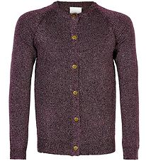 The New Cardigan - Aya - Potent Purple m. Glimmer