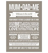 I Love My Type Plakat - 50x70 - Love Typography - Mum+Dad=Me