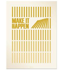 Vissevasse Plakat - 50x70 cm - Make It Happen - Karry