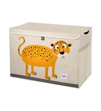3 Sprouts Opbevaringkasse - 38x61x37 - Leopard