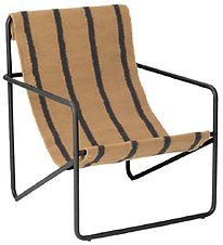 Ferm Living Stol - Desert Chair Kids - Sort/Stribet