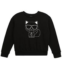 Karl Lagerfeld Sweatshirt - Digit Aesthetic - Sort m. Kat