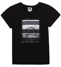 Karl Lagerfeld T-shirt - Digit Aesthetic - Sort m. Print