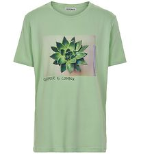 Cost:Bart T-shirt - Misty - Pastel Green m. Print