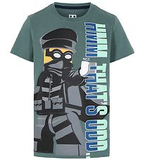 Lego City T-shirt - Mat Green m. Sort