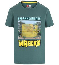 Lego Jurassic World T-shirt - Mat Green m. Print