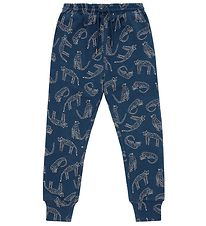 Soft Gallery Sweatpants - Jules - Majolica Blue m. Leoparder