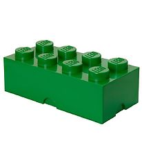 Lego Storage Madkasse - 7,5x20x10 cm - 8 Knopper - Dark Green