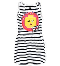 Lego Wear Kjole - Off White m. Striber/Print