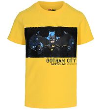 Lego Batman T-shirt - Gul m. Pailletter
