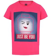 Lego Wear T-shirt - Pink m. Legohoved