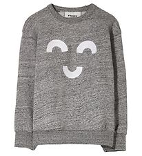 Finger In The Nose Sweatshirt - Wind - Heather Grey Macaroni