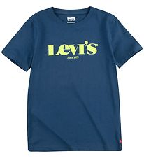 Levis T-shirt - Estate Blue m. Gul